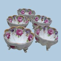Scalloped China  Nut Cups