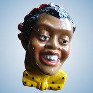 Black Minstrel Chalkware Head