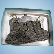 German Silver Mesh Purse