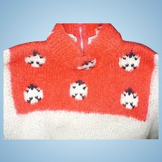 Ladybug Mohair Sweater