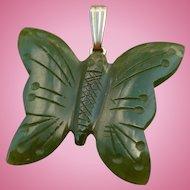 Jade Butterfly Charm