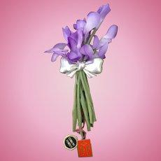 Pewter Flower Holder Pin