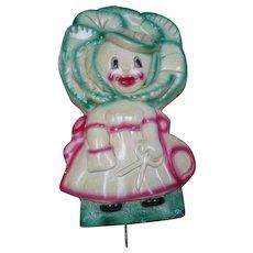 Plaster Cabbage Girl Hook