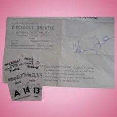 Henry Fonda Autograph 1975