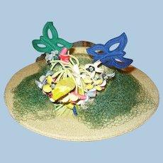 1930's Floral Hat