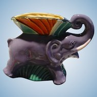 Czech Elephant Planter Vase