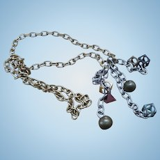 70's Brutalist  Dangle Necklace