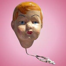 Papier Mache Doll Head