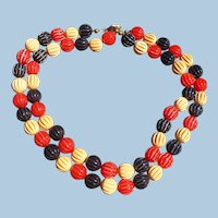 Patriotic Bakelite Bead Necklace