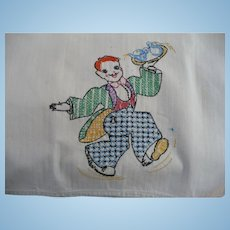Embroidered Waiter Towel