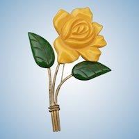 Bakelite Flower Pin