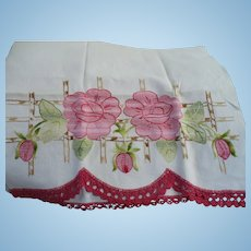 Rose Embroidered Towel