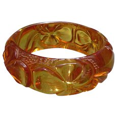 Carved Bakelite Applejuice Bracelet