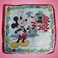 Mickey Minnie Mouse Handkerchief
