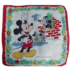 Mickey Minnie Mouse Handkerchief