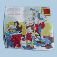Figaro Pinocchio Handkerchief Disney