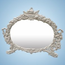 Victorian Cast Iron Table Mirror