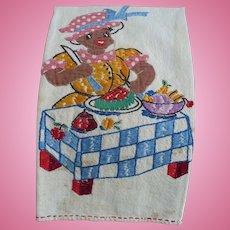 Black Americana Embroidered Towel