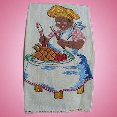 Black Man Embroidered Towel