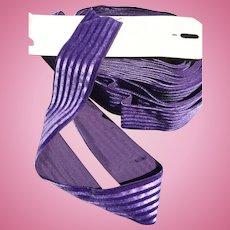 Purple Stripe Ribbon