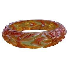Floral Applejuice Bakelite Bracelet