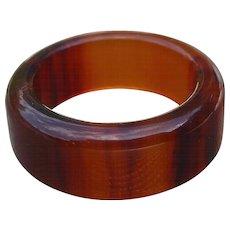 Bakelite Root Beer Band Ring