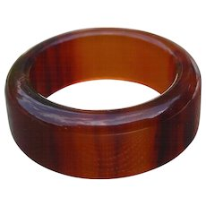 Bakelite Root Beer Band Ring