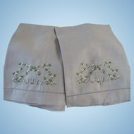 Pair Embroidered Guest Towels