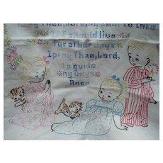 Children's Embroidered Prayer