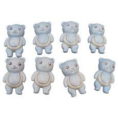 Teddy Bear Ceramic Drawer Pulls