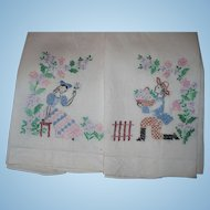 Embroidered Courtship Towels