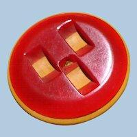 Cast Bakelite Carved Button