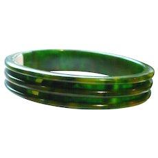 Marbled Green Bakelite Bracelet
