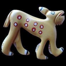 Unusual Bakelite Dog Pin