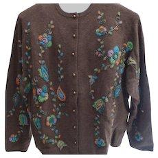 Heavily Beaded Cardigan Ladies Sweater