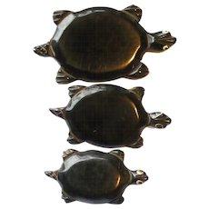 Set Three Bakelite Turtle Pins