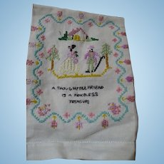 Friendship Hand Towel Embroidered