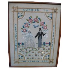 1937 Embroidered Marriage Picture