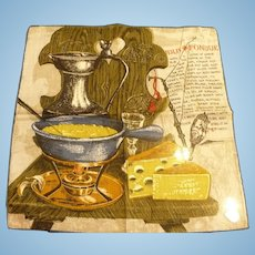 Fondue Recipe Handkerchief