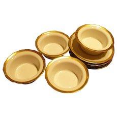 Bernardaud China Desert Cups Saucers