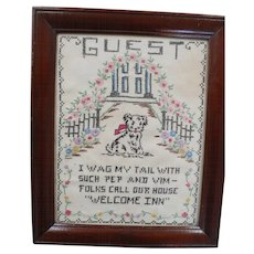 Guest Embroidered Picture