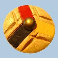 Bakelite Wood Button