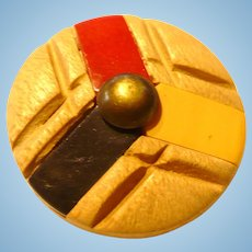 Bakelite Wood Button