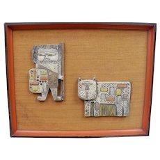 Fantoni Ceramic Plaque Picture