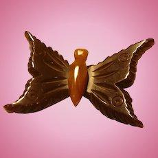 Bakelite Butterfly Pin