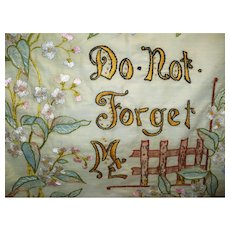 Embroidered Forget Me Not Textile