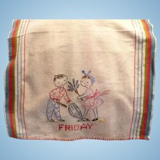 Friday Embroidered Towel