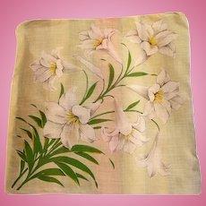 Easter Lilies Handkerchief
