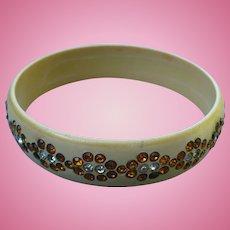 Celluloid Rhinestone Bracelet
