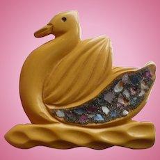 Bakelite Swan Pin